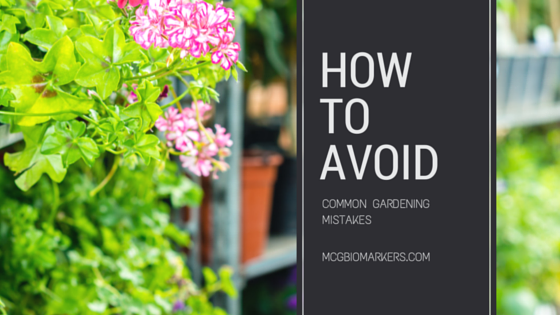 how to avoid common gardening mistakes